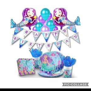 🧜♀Mermaid Birthday Party Supplies Kit-Serves 14!